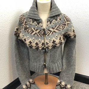 Abercrombie Fitch Vintage Button sweater fleece L